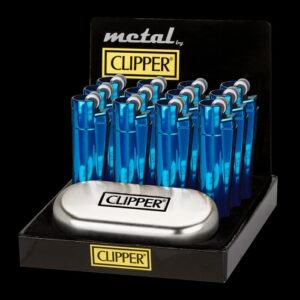 blå metal clipper