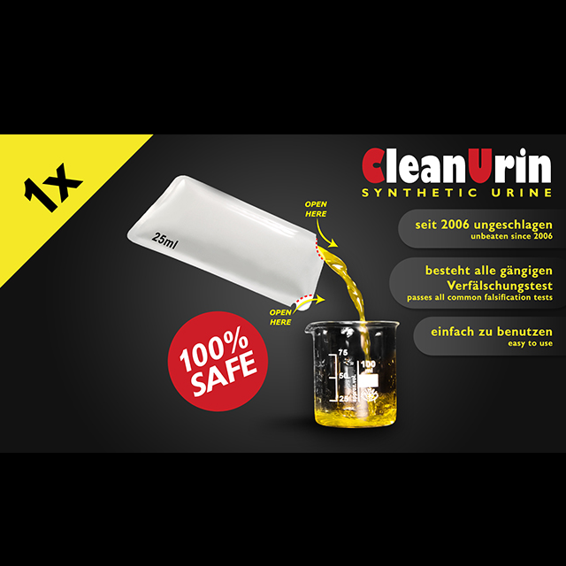 CleanU Syntetisk Urin 1stk 25mL