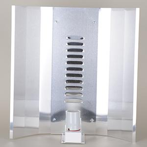 Elektrox Høj Glans CFL Reflektor 43 x 50 cm, inkl. fatning