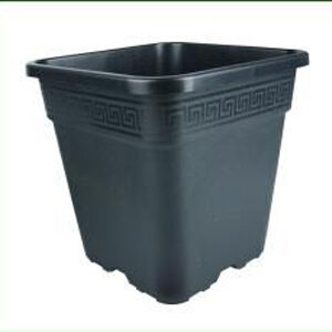 18 L sort firkantet plast pot 30,5 x 30,5 x 30,5 cm