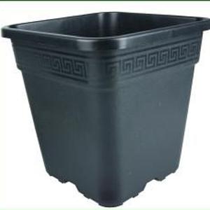 30 L sort firkantet plast pot 36,5 x 36,5 x 36 cm