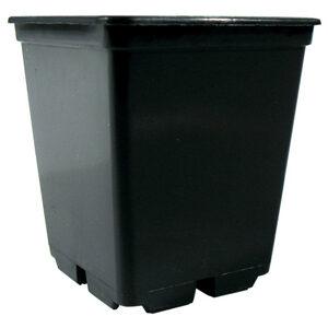 0,25 L sort firkantet plast pot 7 x 7 x 8 cm