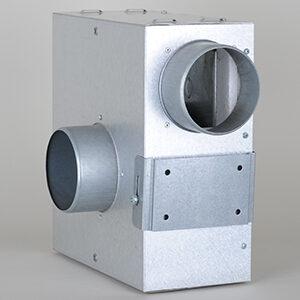 KSA Ventilator Box, m. lydisolering, Ø:100mm, 400m3/t