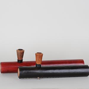 Læder Tjubang 30cm, m. bruyerehoved