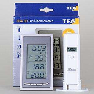 Termometer/Hygrometer m. ekstern trådløs sensor