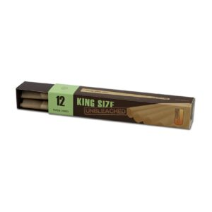 "J Ware Cones 12 Stk Kingsize Pre-Rolled ""Unbleached"""